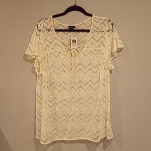 Torrid Ivory Lace Top